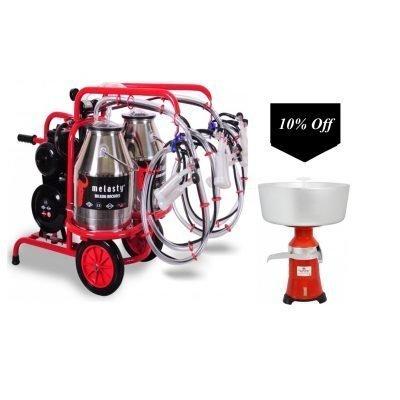 Cream Separator W/Twin Bucket Goat Milker TKKC4-2PS