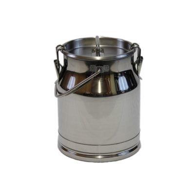 Melasty stainless steel milking bucket with lid 10 Lt/2.64 Gal