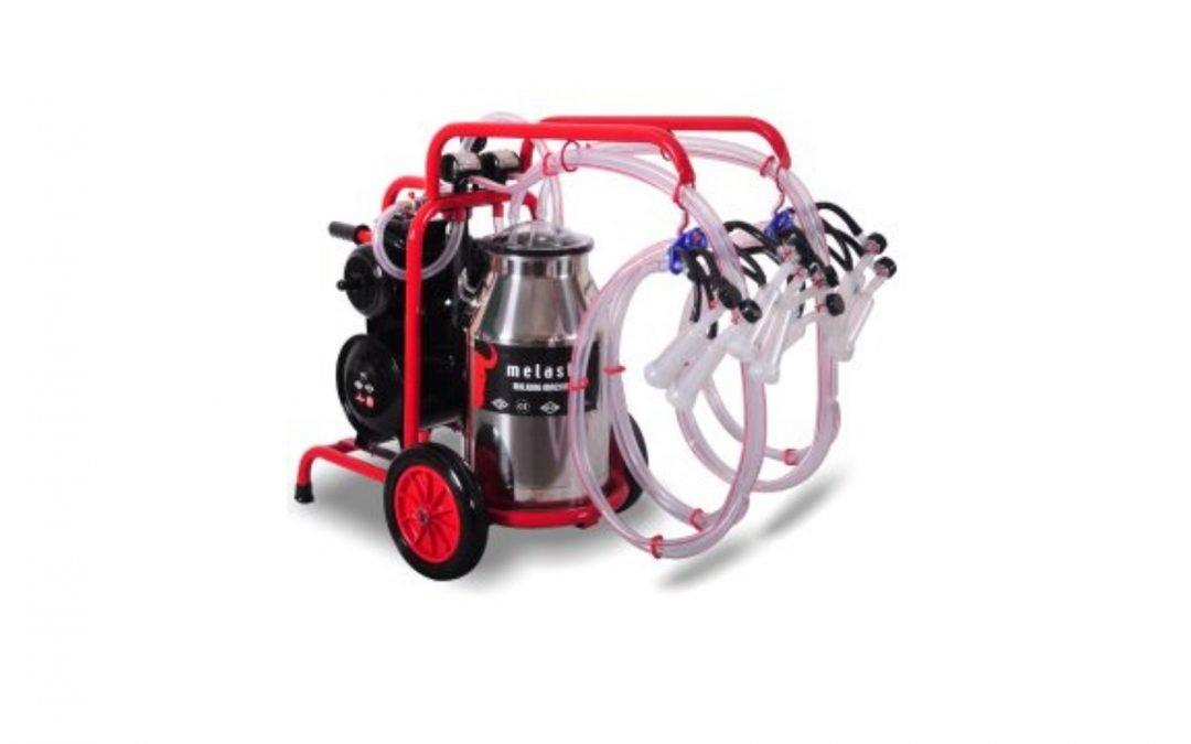 Quadruple Milker for Goats TKKC4-PS 11 Gal Bucket