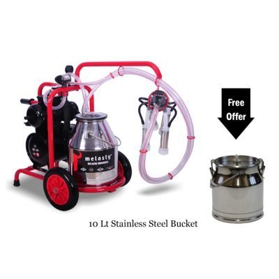Single Cow Milker TK1-PS 8 Gal and 2.6 Extra Bucket Included!