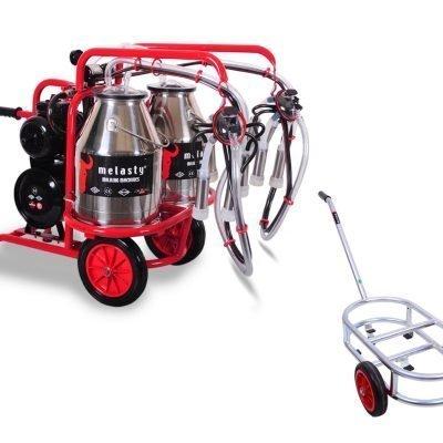 Twin Bucket W/Dolly Milk 2 Cows TK2-2PS.