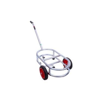 Melasty, milk bucket trolley cart with 2 wheels and handle.