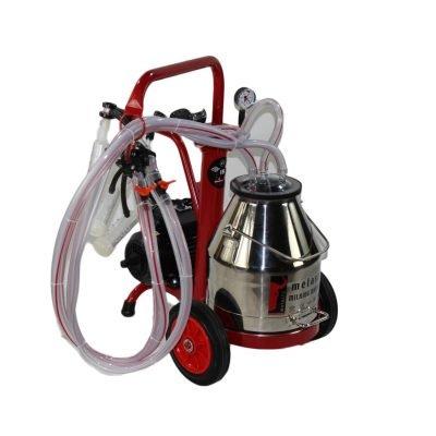 Melasty, 2 goat milking machine, portable electric, stick handle with maintenece box included! TEKKC2-PS
