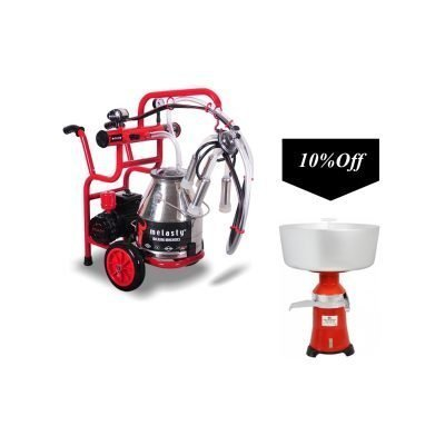 Melasty single milking machine for cows with maintenance kit and cream separator included TJK1-PS