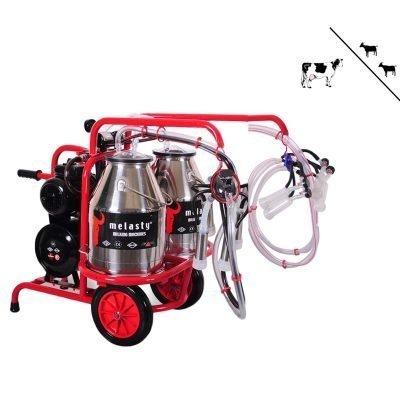 1 Cow / 2 Goat milking machine twin bucket hybrid standard