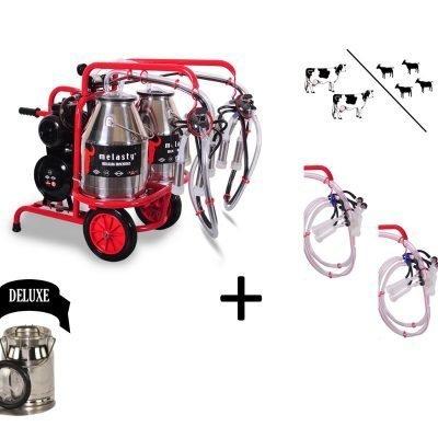 Melasty double cow and quadruple goat milking machine twin bucket hybrid DELUXE