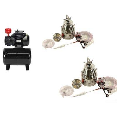 Goat Quadruple Fixed Standard System With (2) 20Lt Milking Bucket