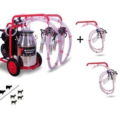 Double Cow/ Quadruple Goat Milker TK2-PS/ TKKC4-PS Hybrid