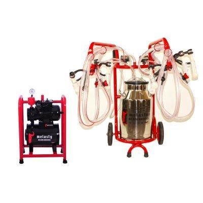 Quadruple Goat Milking Station With Dolly TKS-TT4