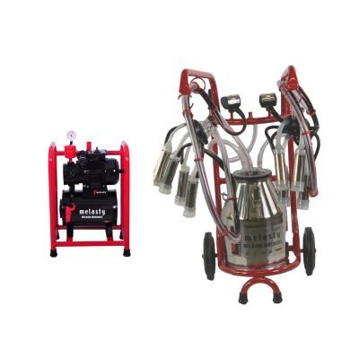 Milking Station With Dolly for Two Cows! TKS-TT2 30 Lt Stainless Steel Bucket
